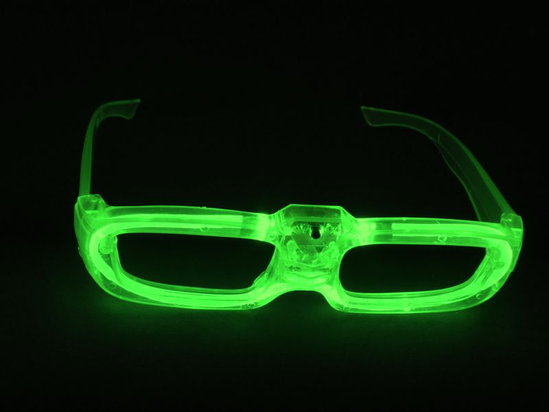 1 LED Sonnen-Brille in GRÜN - Bei uns finden Sie Knicklichter, LED ...